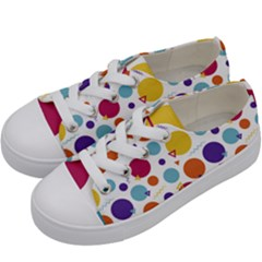 Background Polka Dot Kids  Low Top Canvas Sneakers