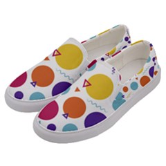 Background Polka Dot Men s Canvas Slip Ons