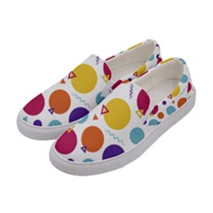 Background Polka Dot Women s Canvas Slip Ons