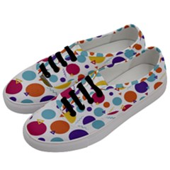 Background Polka Dot Men s Classic Low Top Sneakers