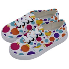 Background Polka Dot Kids  Classic Low Top Sneakers