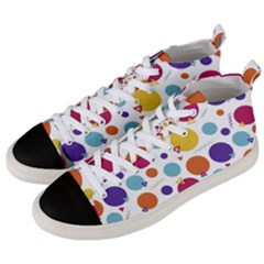 Background Polka Dot Men s Mid-Top Canvas Sneakers