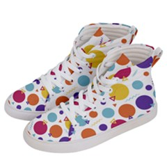Background Polka Dot Men s Hi-Top Skate Sneakers