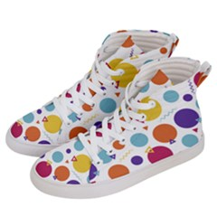 Background Polka Dot Women s Hi-Top Skate Sneakers