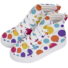 Background Polka Dot Kids  Hi-Top Skate Sneakers