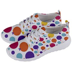 Background Polka Dot Men s Lightweight Sports Shoes
