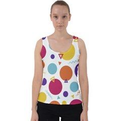 Background Polka Dot Velvet Tank Top