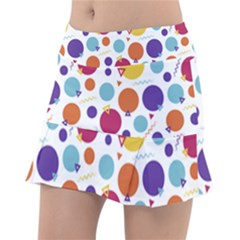 Background Polka Dot Tennis Skirt