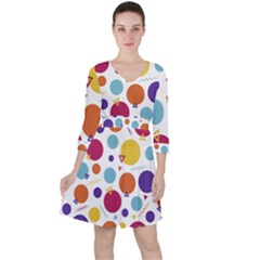 Background Polka Dot Ruffle Dress