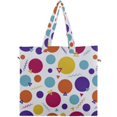 Background Polka Dot Canvas Travel Bag