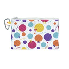 Background Polka Dot Canvas Cosmetic Bag (Medium)
