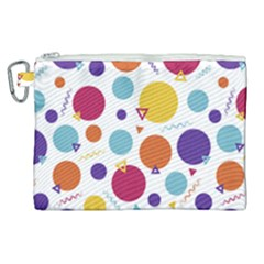 Background Polka Dot Canvas Cosmetic Bag (XL)