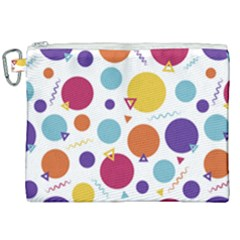 Background Polka Dot Canvas Cosmetic Bag (XXL)