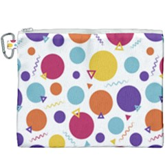 Background Polka Dot Canvas Cosmetic Bag (XXXL)