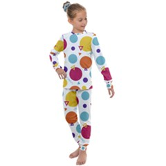 Background Polka Dot Kids  Long Sleeve Set