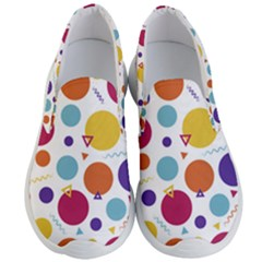 Background Polka Dot Men s Lightweight Slip Ons