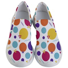 Background Polka Dot Women s Lightweight Slip Ons