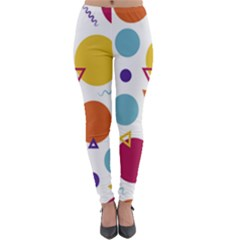 Background Polka Dot Lightweight Velour Leggings
