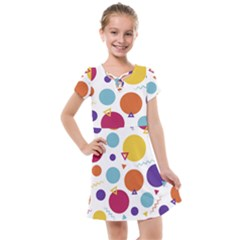Background Polka Dot Kids  Cross Web Dress