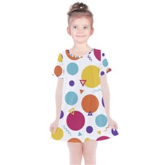 Background Polka Dot Kids  Simple Cotton Dress