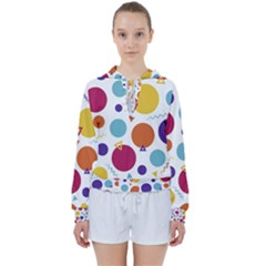 Background Polka Dot Women s Tie Up Sweat by HermanTelo