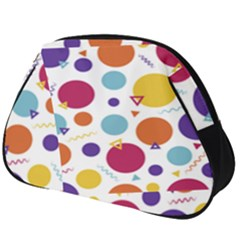 Background Polka Dot Full Print Accessory Pouch (Big)