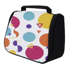 Background Polka Dot Full Print Travel Pouch (Small)