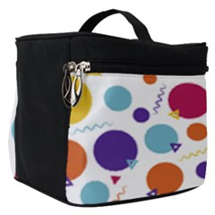 Background Polka Dot Make Up Travel Bag (Small)