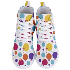 Background Polka Dot Women s Lightweight High Top Sneakers