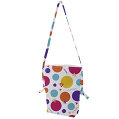 Background Polka Dot Folding Shoulder Bag