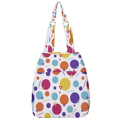 Background Polka Dot Center Zip Backpack