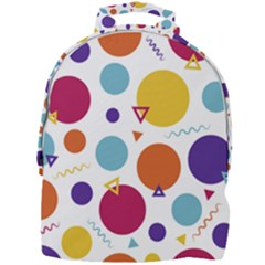 Background Polka Dot Mini Full Print Backpack