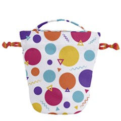 Background Polka Dot Drawstring Bucket Bag