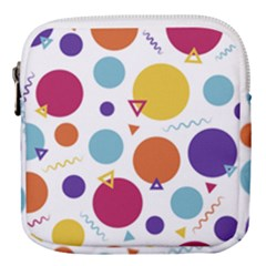 Background Polka Dot Mini Square Pouch