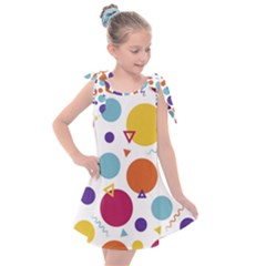 Background Polka Dot Kids  Tie Up Tunic Dress