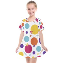 Background Polka Dot Kids  Smock Dress
