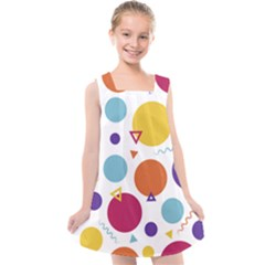 Background Polka Dot Kids  Cross Back Dress