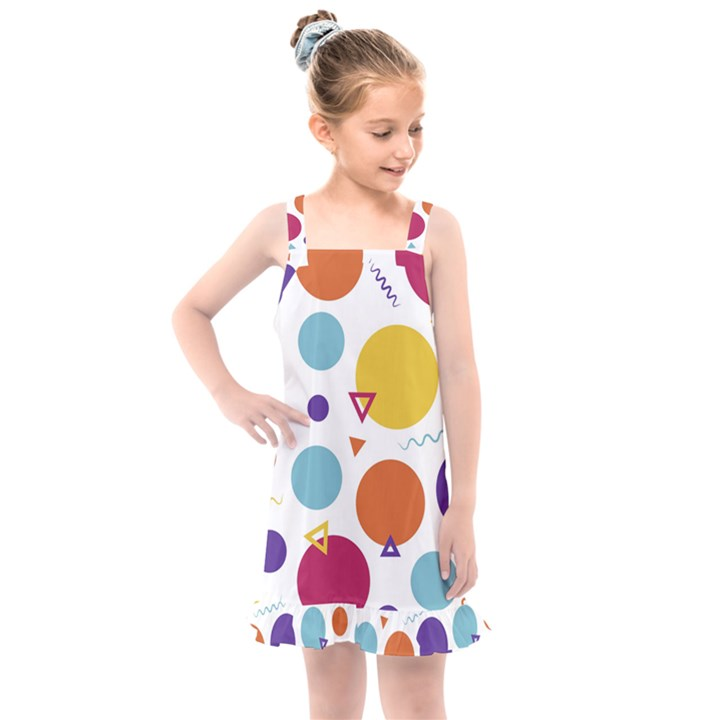 Background Polka Dot Kids  Overall Dress