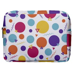 Background Polka Dot Make Up Pouch (Large)