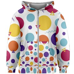 Background Polka Dot Kids  Zipper Hoodie Without Drawstring
