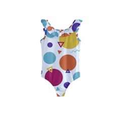 Background Polka Dot Kids  Frill Swimsuit
