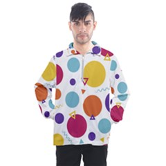 Background Polka Dot Men s Half Zip Pullover