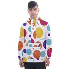 Background Polka Dot Men s Front Pocket Pullover Windbreaker