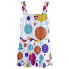 Background Polka Dot Kids  Layered Skirt Swimsuit