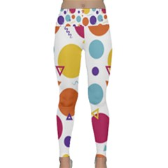 Background Polka Dot Lightweight Velour Classic Yoga Leggings