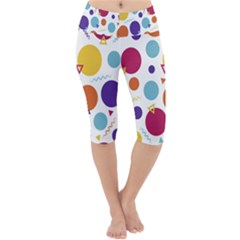 Background Polka Dot Lightweight Velour Cropped Yoga Leggings