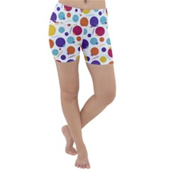 Background Polka Dot Lightweight Velour Yoga Shorts