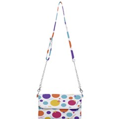 Background Polka Dot Mini Crossbody Handbag