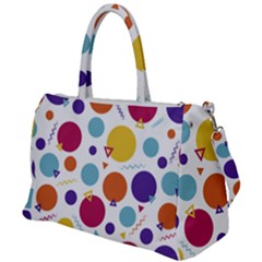 Background Polka Dot Duffel Travel Bag