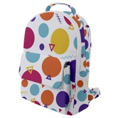 Background Polka Dot Flap Pocket Backpack (Small)